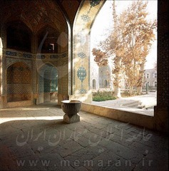 Entrance of the Madresseh-ye Madar-e Shah in Isfahan1968-1